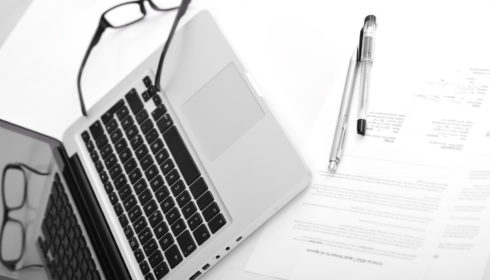 Laptop And Agreement Documents Contract For Signing Hyw U9 Cnj
